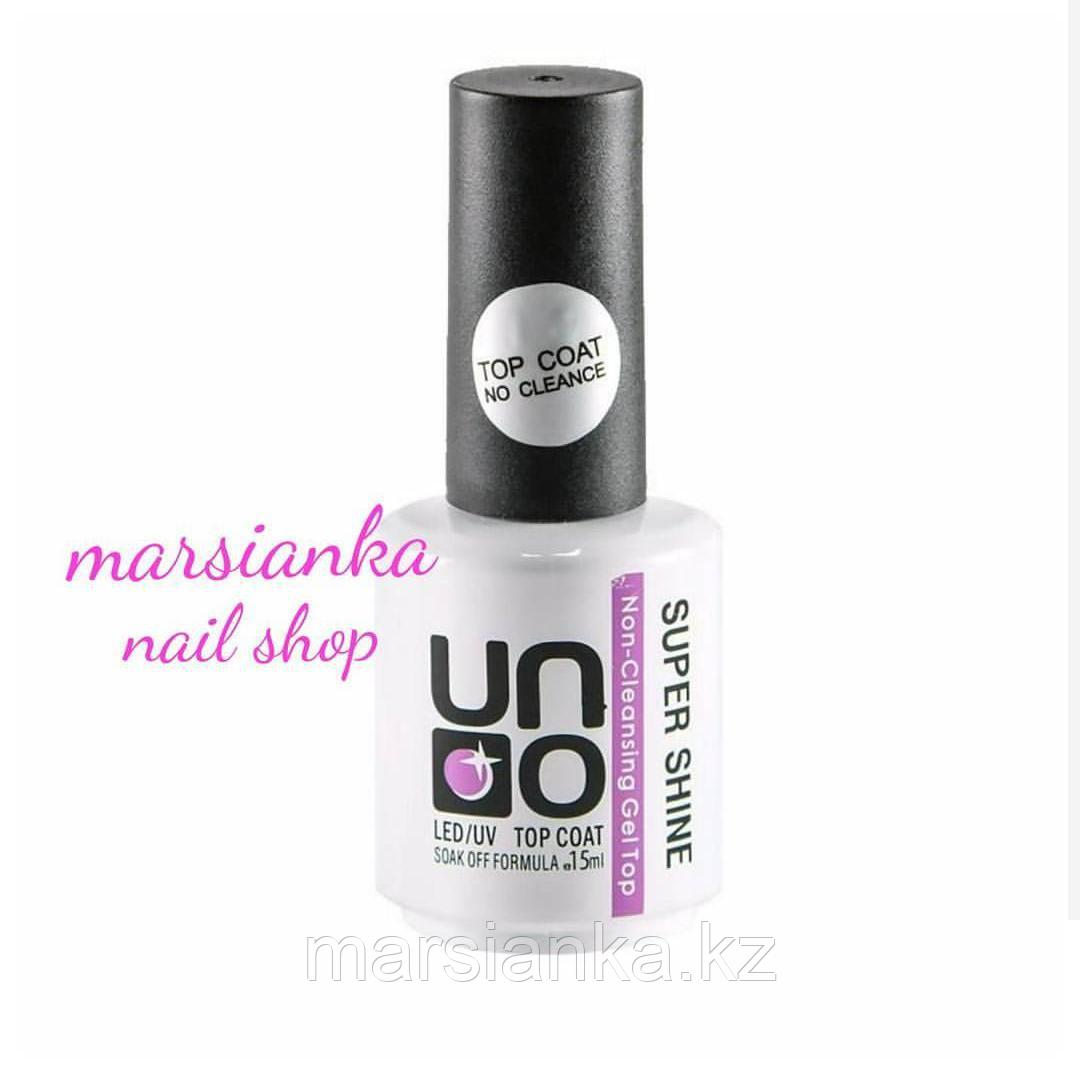 Top coat UNO, Super shine, 15ml (топ для гель-лака)