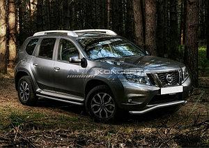 Защита переднего бампера d57 волна Nissan Terrano 2014-