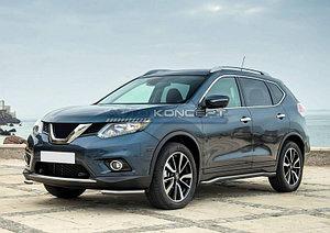 Защита переднего бампера d42 уголки Nissan X-Trail 2015-