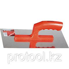 Гладилка стальная, 280 х 130 мм, зеркальная полировка, пластмас. ручка// MATRIX