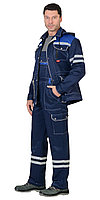 """Костюм """"ЛИДЕР""""лет :куртка, п/к.,т-синий с вас. и молоч. тк.Crown 270 и СОП 25 мм., фото 1"""