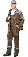 """Костюм """"ЛИДЕР"""" лет.:куртка, п/к., хаки со св.серым тк.Crown 270 и СОП 25мм, фото 1"""