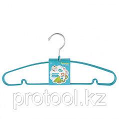 Вешалка для легкой одежды с прорезиненным противоскользящим покрытием 40 см, 5шт. в комплекте// ELFE
