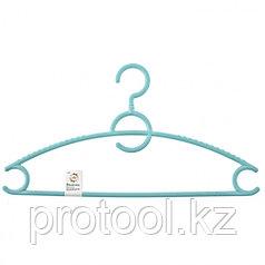 Вешалка пластиковая для верхней одежды 43 см, цветная// ELFE