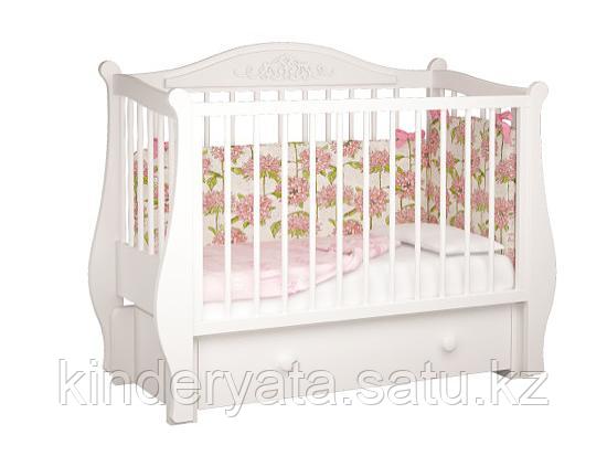 Кроватка детская Джулия можгамебель (белая,слоновая кость)