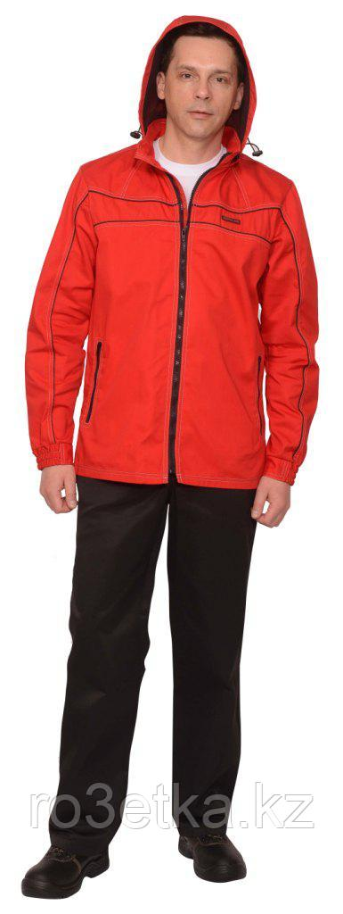 """Костюм """"Мельбурн"""" : куртка,п/к красный с черным кантом тк.Rodos (245 гр/кв.м)"""