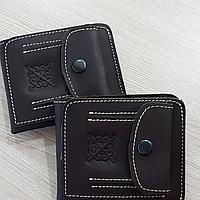 Кожаные складные кошельки с казахским узором, фото 1