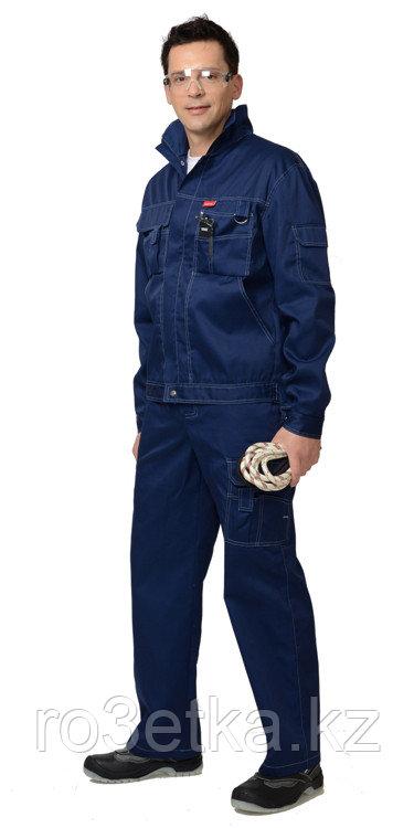 """Костюм """"Плутон"""": куртка, брюки тёмно-синий со светло-серой отстрочкой"""