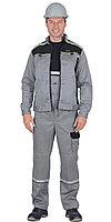 """Костюм """"ПРАКТИК""""летний, куртка, п/к., св.серый с черным тк.CROWN, фото 1"""