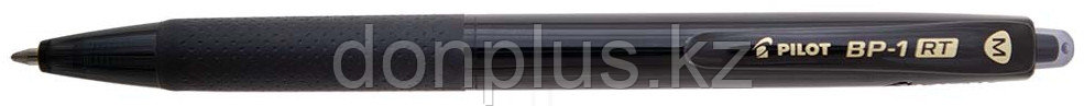 Ручка шариковая  автом. Pilot BP-1 RT 1 мм, корпус черный, стержень черный