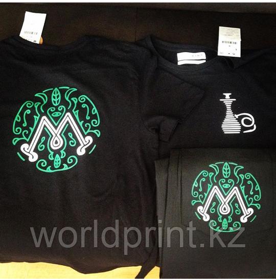 Печать логотипов на футболки