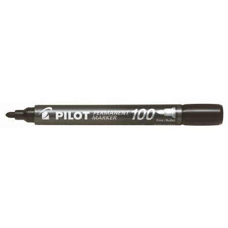 Маркер перманентный Pilot SCA-100 круг.након. 1мм, черный