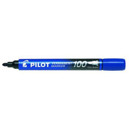 Маркер перманентный Pilot SCA-100 круг.након. 1мм, синий