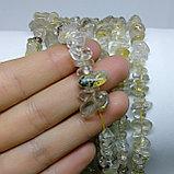 Рутиловый кварц (Волосы Венеры) золотой, сколы, фото 2