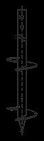 Свая винтовая сварная двухлопастная. Диаметр 73 мм, длина 4 м