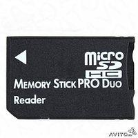 Адаптер Memory Stick Pro Duo для microSD карт памяти