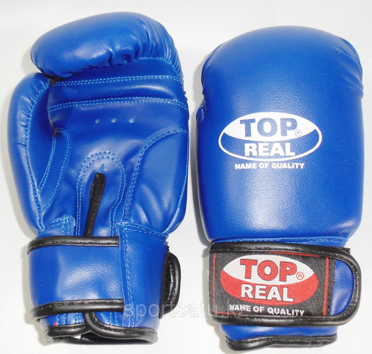 Боксерские перчатки TOPREAL кожа/зам