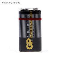 Батарейка солевая GP Supercell Super Heavy Duty, 6F22-1S, 9В, крона, спайка, 1 шт.