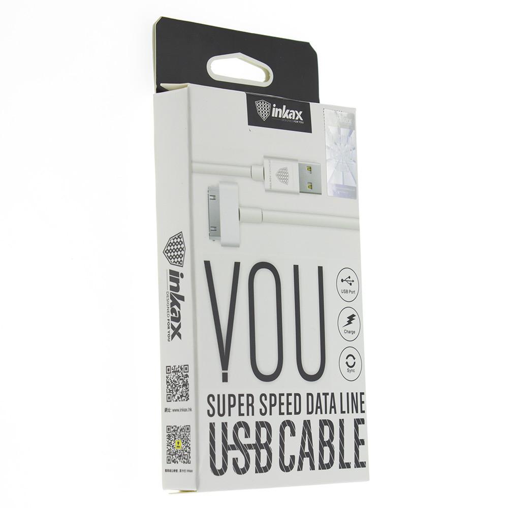 Кабель INKAX CK-13 30-pin iphone 4 USB