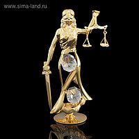 Сувенир «Фемида», с кристаллами Сваровски, 10,5 см