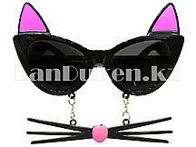 Карнавальные очки с кошачьими ушами и усами