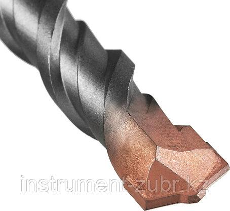 """Бур ЗУБР по бетону, хвостовик """"SDS-Plus"""", самоцентрирующий наконечник, спиральS4, 25х450мм, фото 2"""