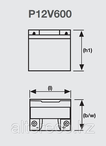 Аккумулятор EXIDE Sprinter P12V600 (12В, 26Ач), фото 2