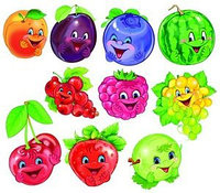 Набор украшений Ягоды и фрукты в наборе 10шт