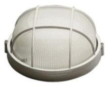 Светильник НПП 1302-60 белый/круг с решеткой