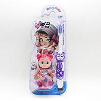 Детская зубная щетка с куклой, фиолетовая