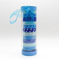 Набор резинок для волос, голубые, 25 шт.