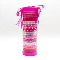 Набор резинок для волос, розовые, 25 шт.