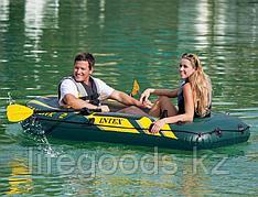 """Надувная лодка двухместная """"Seahawk-2"""" с веслами и насосом, Intex 68347"""