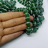 Агат зелёный со стразами, 10 мм, фото 2