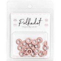 Набор люверсов Polkadot - розовые (пудровые)