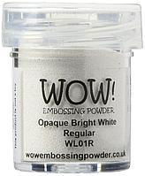 Пудра для эмбоссинга WOW!, цвет Opaque Bright White (непрозрачный яркий белый), 15ml