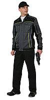 """Костюм """"Престиж"""" : куртка,п/к, цв. темно-серый с лимонным кантом, фото 1"""