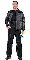 """Костюм """"Престиж"""" : куртка, п/к """"Престиж"""" чёрный, цв. темно-серый с лимонным кантом, фото 1"""