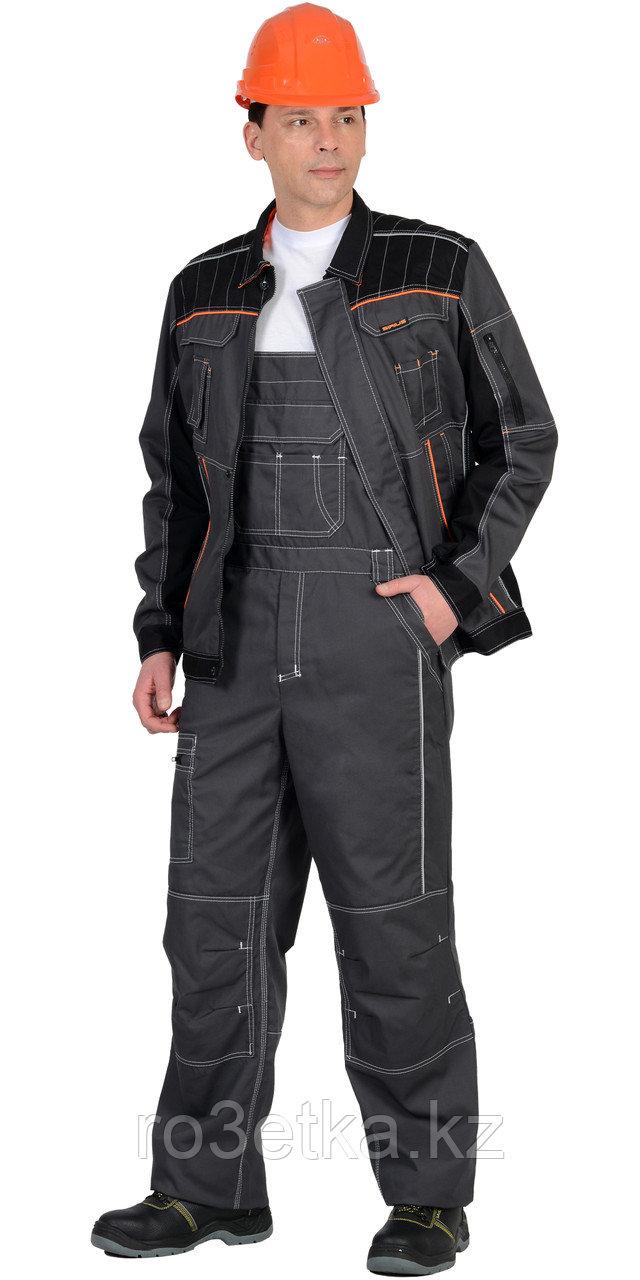 """Костюм """"Престиж"""" : куртка, п/к """"Престиж"""" серый, цв. серый с оранжевым кантом"""