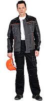 """Костюм """"Престиж"""" : куртка, брюки """"Престиж"""" чёрный , цв. серый с оранжевым кантом, фото 1"""