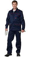 """Костюм """"ПРОФЕССИОНАЛ"""": куртка, полукомбинезон синий с красным кантом, фото 1"""