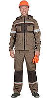 """Костюм """"РОДОС"""" мужской: куртка, брюки (св.-коричневый с т.-коричневым) тк.Родос, фото 1"""