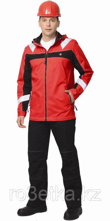 """Костюм """"Сидней"""" куртка, брюки красный с черным тк.Rodos (245 гр/кв.м)"""