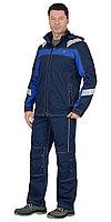 "Костюм ""Сидней"" летний: куртка, брюки синий с ваильковым тк.Rodos (245 гр/кв.м), фото 1"
