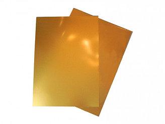 Золотой пластик для струйной печати 210х297 мм (А4)