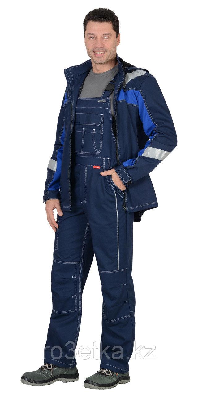 """Костюм """"Сидней"""" летний: куртка, п/к синий с ваильковым тк.Rodos (245 гр/кв.м)"""