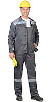 """Костюм """"Сити"""": куртка кор.,п/к т.серый с св.серым и СОП, фото 1"""
