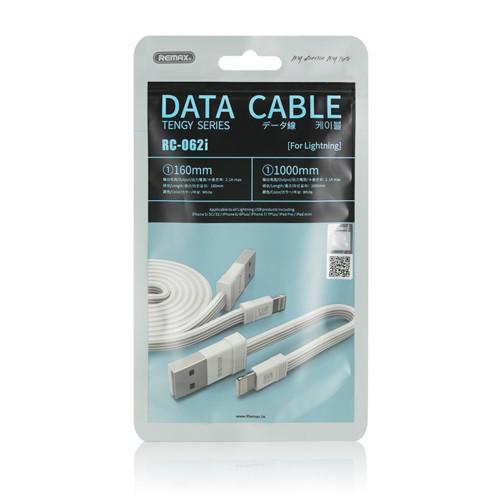 Кабель Remax RC-062i Lightning USB iPhone White