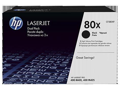 HP CF280XF HP 80X Лазерный картридж для LaserJet Pro 400 M401/M425, (в упаковке 2 шт по 6900 страниц)