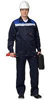 "Костюм ""СТАНДАРТ"": куртка, брюки тёмно-синий с васильковым и СОП 50 мм., фото 1"